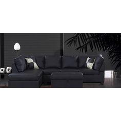 Venetian Worldwide LINFORD Sectional Sofa W Ottoman