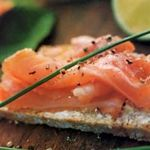 Irish Brown Bread with Smoked Salmon