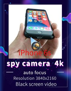 This is a portable mobile phone spy camera that can make phone calls. We modified the rear camera of the iPhone 6s to the earphone hole at the bottom of the phone, which will not affect the normal use of the phone. With the help of dedicated APP software, black screen recording can be achieved. All parameters of the mobile phone are subject to the parameters of the official website. Hidden Spy Camera, Mini Camera, Black Screen, 4k Hd, Used Iphone, New Phones, Security Camera, Easy To Use, The Help