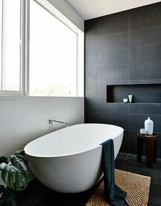 Decke Badezimmer | Dunkle Decke Badezimmer Einrichtung Badezimmer Ideen Fliesen