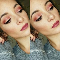 """""""Tutorial up on the blog of this easy Valentines Day inspired makeup look link in the bio  featuring some @colourpopcosmetics shadows in weenie & drift…"""""""