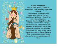 SALVE ¡OH REINA! Bible Resources, Prayers For Children, Healing Meditation, Mother Mary, First Communion, Religion, Faith, Kids, Ideas Para