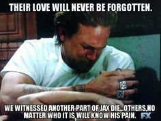 Soon there will be nothing left... Jax needs to honor the fallen by turning the club into what John Teller originally  set out to do