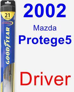 Driver Wiper Blade for 2002 Mazda Protege5 - Hybrid