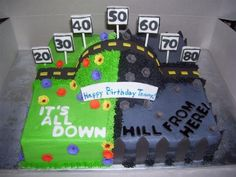 over the hill cake decorating ideas Moms 50th Birthday, 60th Birthday Cakes, Happy Birthday, 50th Birthday Party, Birthday Ideas, Funny Birthday, Birthday Beer, Birthday Sayings, Birthday Stuff