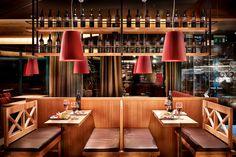Cafe - Bar - Restaurant Steiner Wine Bar Restaurant, Cafe Bar, Interior Design, Restaurants, Home Decor, Style, Fine Dining, Architecture, Nest Design