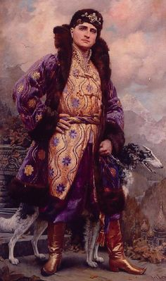 Prince Felix Yusupov by Linse. The Yusupovs were the wealthiest family in Russia. They owned dozens of estates and palaces and Prince Felix Yusupov was married to the niece of Tsar Nicholas II, Irina Alexandrovna. The prince is best remembered for his involvement in the murder of the mad monk Rasputin in the Yusupov family's palace in St Petersburg. He was able to escape to Paris in 1917, taking many fine family jewels.