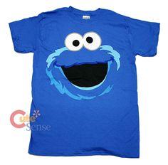 Sesame Street Elmo Cookie Monster Face T-Shirt