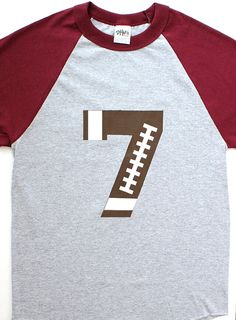 Custom Football Number Shirt