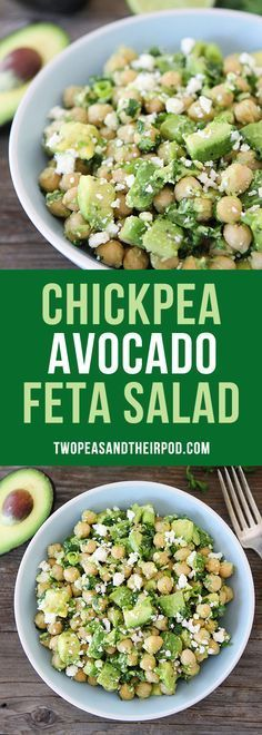 Chickpea Avocado Feta Salad-you only need 5 ingredients and 5 minutes to make this easy, fresh, and delicious salad. It is great for lunch, dinner, or taking to potlucks, barbecues, and picnics! Everyone loves this gluten-free and vegetarian salad.