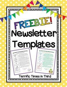 Newsletter Template (EDITABLE) FREEBIE   Parent-Teacher ...