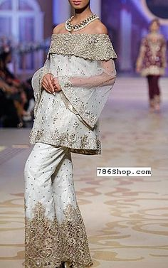 Off-white Chiffon Suit. Formal and Party Pakistani dresses. Buy Designer formal wear and wedding dresses. Pakistani Dresses Online Shopping, Pakistani Party Wear Dresses, Online Dress Shopping, Trendy Dresses, Women's Fashion Dresses, Boho Fashion, Fashion Fall, Fashion Clothes, Fashion Trends