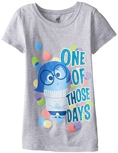 Disney Big Girls' Inside Out Sadness One Of Those Days Tee - Oh, I wish this came in grown-up sizes. perfect!