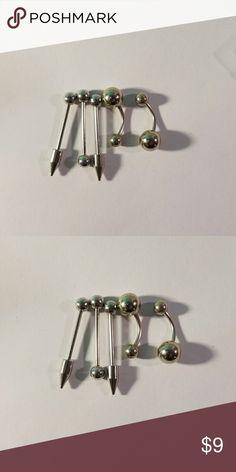 5 piece punk jewelry earrings lip ear tung ring Brand new 5 piece punk jewelry earrings belly button rings.  Bag C. Jewelry Earrings