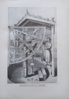 Himmelsbeobachtung zu Ende des 17. Jh nach Hevelii - Originaldruck aus ca 1906