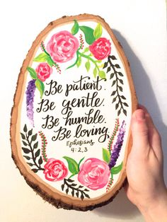 Inspirational Bible verse painting on wood by HaleyMillerPaintings