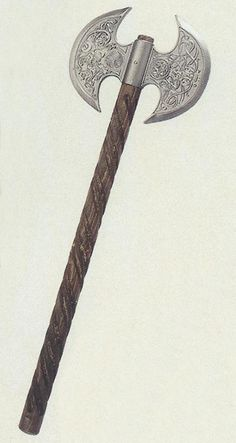 Engraved medieval axe