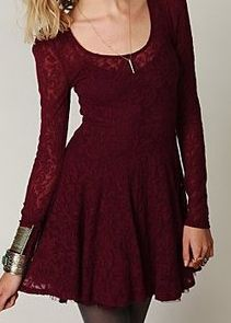 Free People Floral Lace Fit and Flare Dress (Exact)