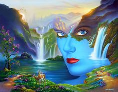 Kai Fine Art is an art website, shows painting and illustration works all over the world. Illusion Kunst, Illusion Art, Fantasy Kunst, Fantasy Art, Surreal Artwork, Indian Art Paintings, Witch Art, Galaxy Wallpaper, Art Google