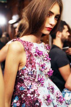Ornate embellishments at Mary Katrantzou's S/S 14 via Susie Bubble at StyleBubble