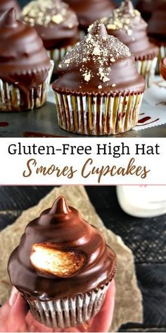 These deliciously decadent S'mores Cupcakes are guaranteed crowd pleaser and they're gluten-free! These deliciously decadent S'mores Cupcakes are guaranteed crowd pleaser and they're gluten-free! Lemon Desserts, Great Desserts, Healthy Dessert Recipes, Cupcake Recipes, Gluten Free Cakes, Gluten Free Baking, Gluten Free Desserts, Gluten Free Chocolate Cupcakes, Strawberry Oatmeal Bars