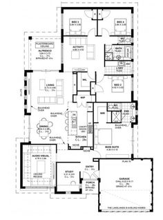 View and compare Display Homes in Lakelands on the one easy to use site. Duplex Floor Plans, Home Design Floor Plans, Floor Design, House Floor Plans, House Design, Best House Plans, Dream House Plans, Modern House Plans, House Plans Australia