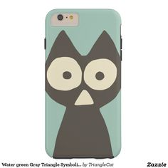 Water green Gray Triangle Symbolic Cat Tough iPhone 6 Plus Case