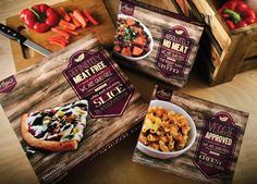 Amy's Frozen Food Rebrand (Student Work)  Designed by Arielle Knapp, a Syracuse University Communications Design 2012 Graduate, United States.