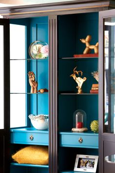 Painted French display cabinet from Nash Interiors  www.nashinteriors.co.uk