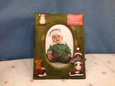 For Sale-8 1/2 Forest Green Christmas frame. Price: $6.50. Contact Kris Wilson at (210) 632-1800 or email to:kris3800@y... to purchase or for more information.