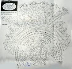 World crochet: Napkin 496