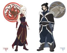 This Game of Thrones/Avatar mashup by pip11  might be the coolest thing ever.