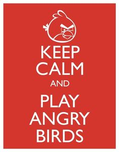 Play angry birds. This game doesnt keep me calm. Ive almost thrown my phone SO many times over this game haha.
