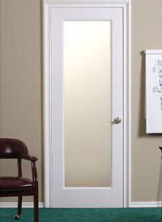 Foto de Porta de vidro interior do abanador, porta de madeira branca - Lavanderia/Cozinha e Sala/Área de dormitórios