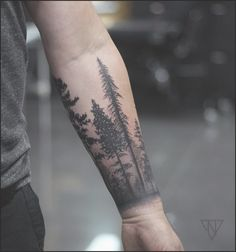 Forest cuff.. | — Tattoos — | Pinterest | Tattoo, Tree tattoo arm ... #tattoo #tattooideas #tree