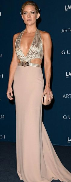 Kate Hudson who looked statuesque in a gold Gucci gown with sexy cut-outs. #Celebrity #Fastion #RedCarpet - See more at: http://shesaid.com/style?ts=835&utm_medium=pinterest&utm_source=jp&utm_campaign=outreach