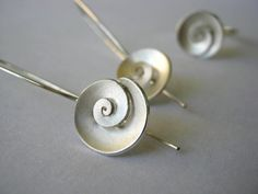 Nautilus  dangle Earrings  Sterling silver  small by metalmorphoz, $118.00