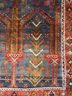 C 1930 Persian Qashqaei Khamseh Stunning Exquisite Antique Hand Made Rug 13 #Persian