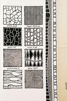 Moleskine 03, #077, patterns, backgrounds Doodle Patterns, Zentangle Patterns, Sketchbook Pages, Doodle Inspiration, Art Journal Inspiration, Pattern Art, Doodle Drawings, Doodle Art, Zentangles