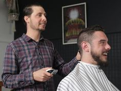TasWeekend: Barber shops are here to stay Beard Trimming, Barber Shop, Short Hair Styles, Shops, Men Casual, Mens Tops, Shopping, Fashion, Bob Styles