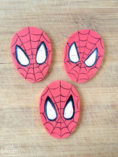 Edible SpiderMan inspired cupcake toppers!