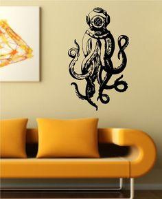 Octopus Wall Decal Version  Vinyl Sticker Art Decor Bedroom - Vinyl wall decals application instructions