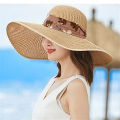 ee261dfff9d Floral bow floppy sun hat for women straw summer wide brim beach hat  packable