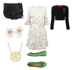 """Flowery summer set"" by zuzka-pe on Polyvore featuring County Of Milan, Alberto Moretti, Kenneth Jay Lane and Lord & Taylor"