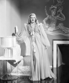 Ginger Rogers in a gorgeous negligee 1940s