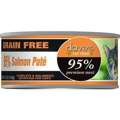 Dave's Pet Food 95% Premium Meat Grain-Free Salmon Pate Canned Cat Food, 5.5-oz, case of 24 by Dave's Pet Food * Read more at the image link. (This is an affiliate link and I receive a commission for the sales)