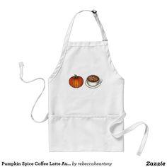 Pumpkin Spice Coffee Latte Autumn Fall Apron