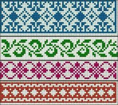 Ideas knitting charts fair isle cross stitch Ideas knitting charts fair isle cross stitch Always wanted to figure out how to knit, however unclear wher. Fair Isle Knitting Patterns, Fair Isle Pattern, Bead Loom Patterns, Knitting Charts, Knitting Stitches, Cross Stitch Borders, Cross Stitch Charts, Cross Stitch Embroidery, Cross Stitch Patterns