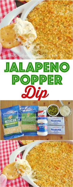 Jalapeno Popper Dip recipe from The Country Cook