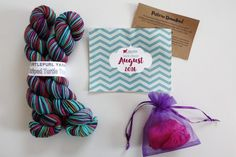 Yarn Crush Sock Subscription Box Review + Coupon - August 2016 - Read our review of the August 2016 Yarn Crush Sock Subscription Box!